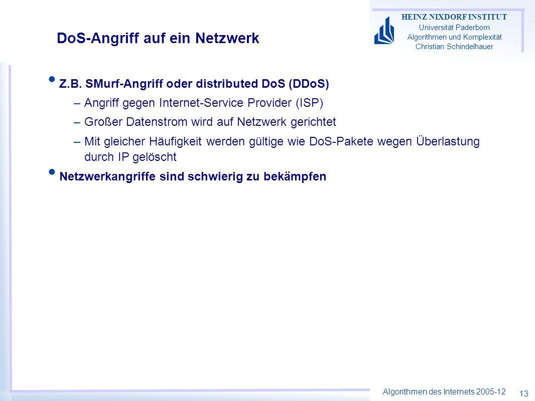 DoS-Angriff auf ein Netzwerk