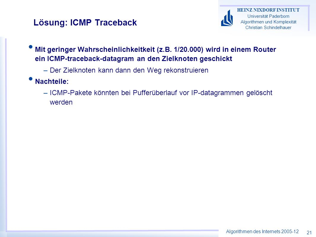 Lösung: ICMP Traceback