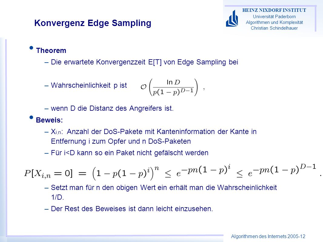 Konvergenz Edge Sampling