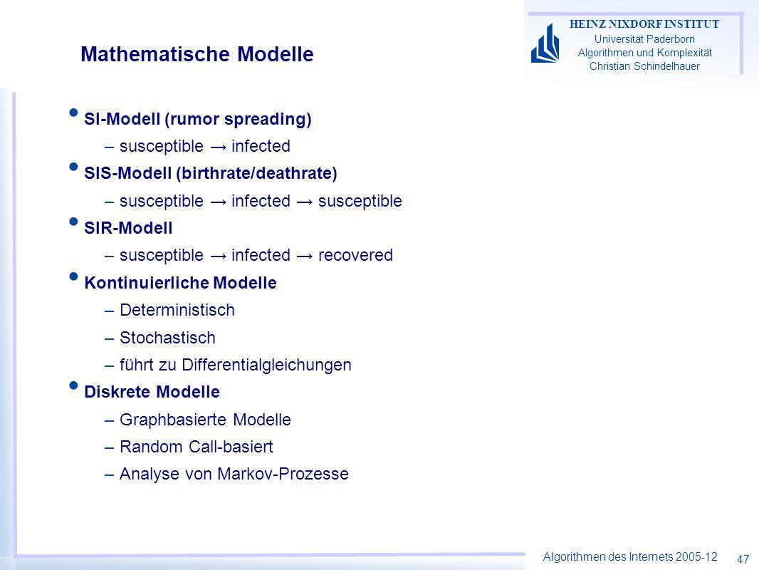 Mathematische Modelle