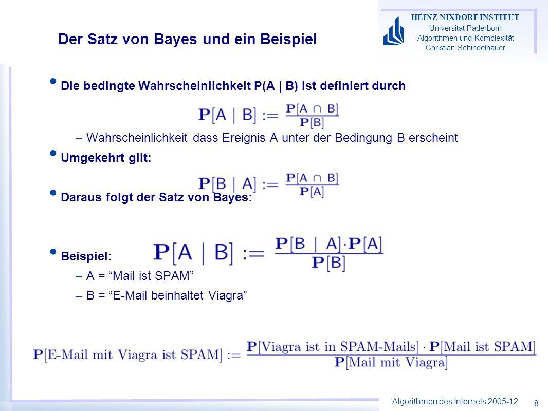 Der Satz von Bayes und ein Beispiel