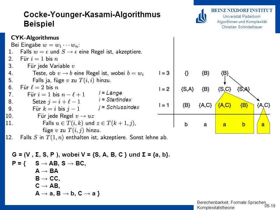 Cocke-Younger-Kasami-Algorithmus Beispiel