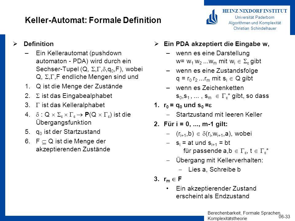 Keller-Automat: Formale Definition