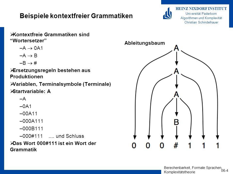 Beispiele kontextfreier Grammatiken