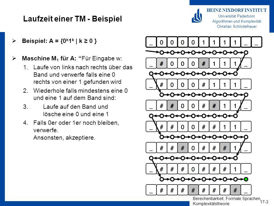 Laufzeit einer TM - Beispiel