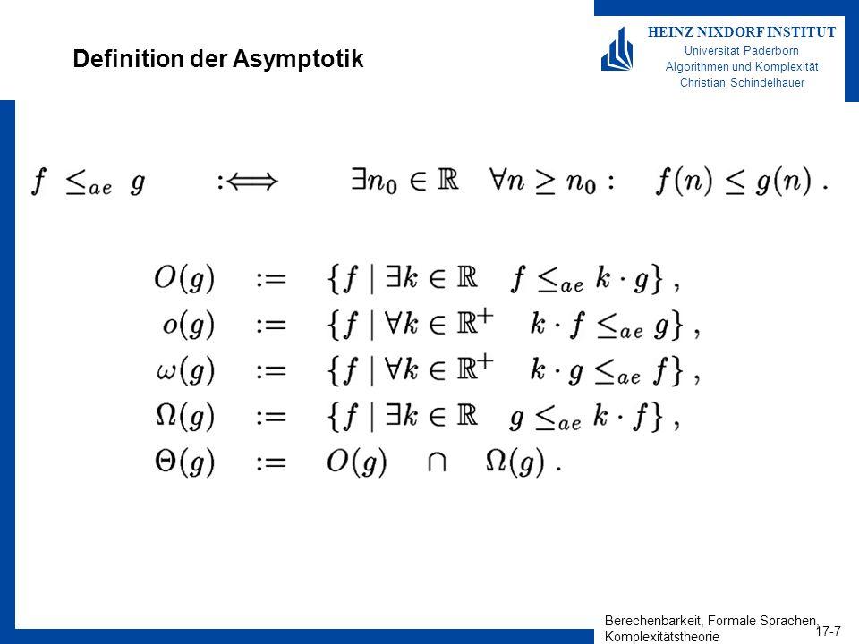 Definition der Asymptotik