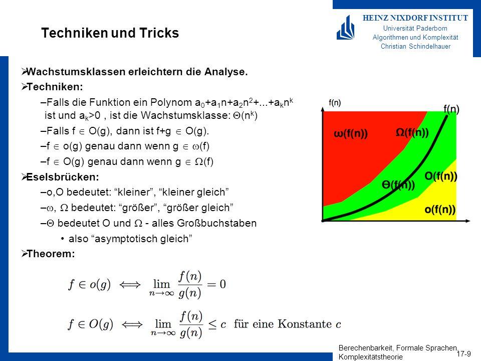 Techniken und Tricks Wachstumsklassen erleichtern die Analyse.