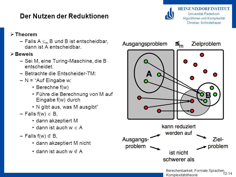 Der Nutzen der Reduktionen