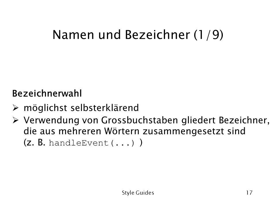 Namen und Bezeichner (1/9)
