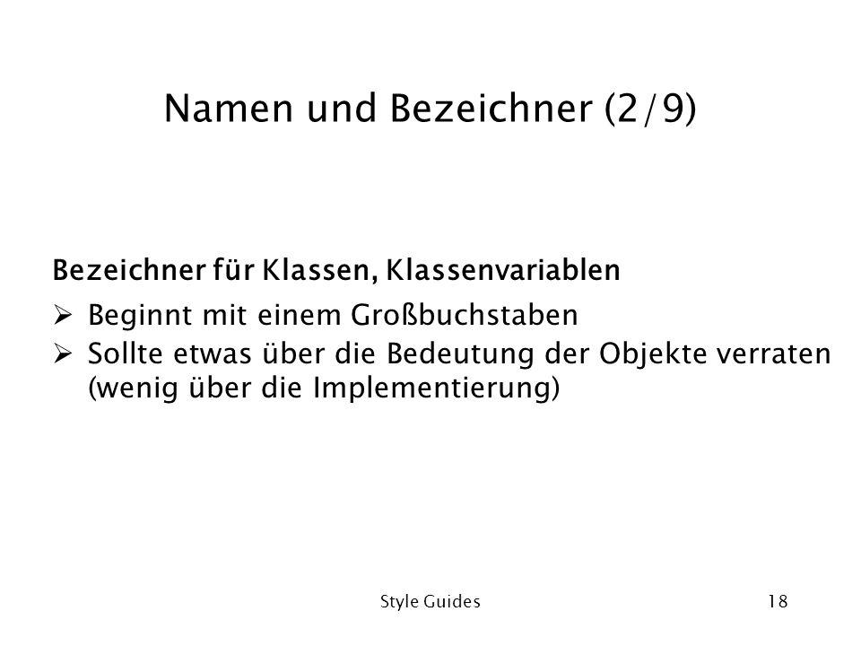Namen und Bezeichner (2/9)