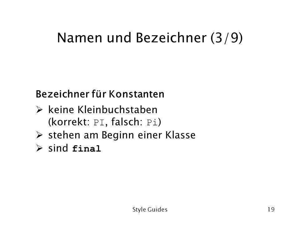Namen und Bezeichner (3/9)