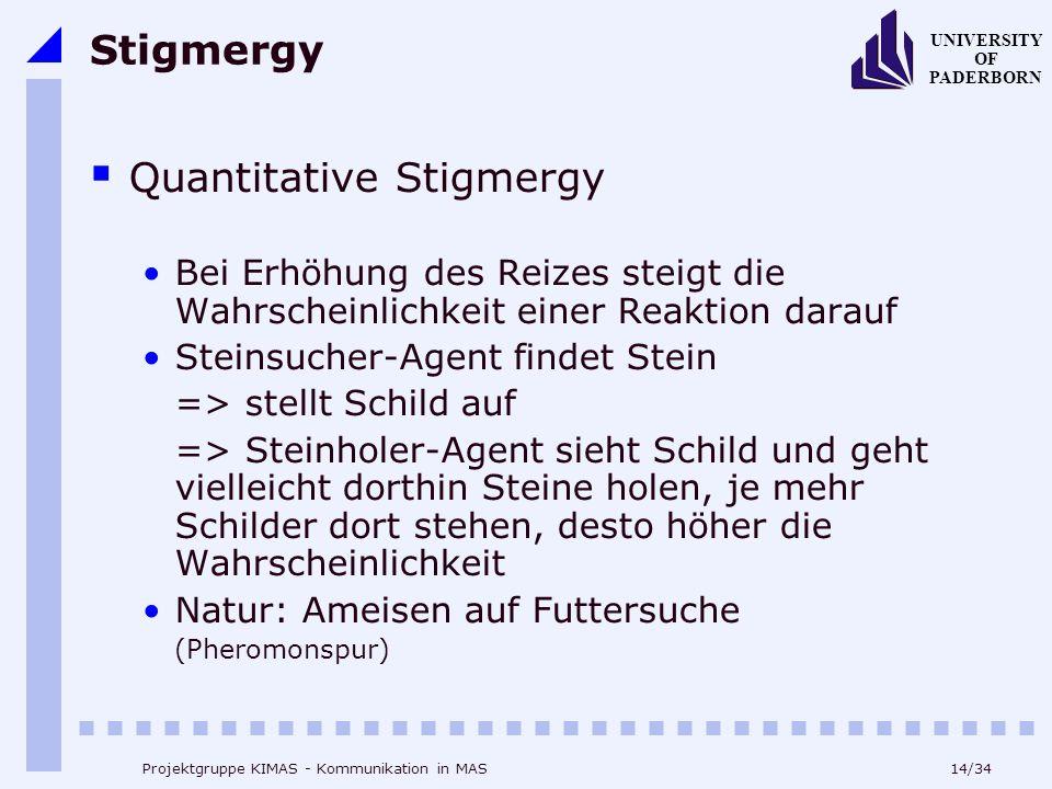Quantitative Stigmergy