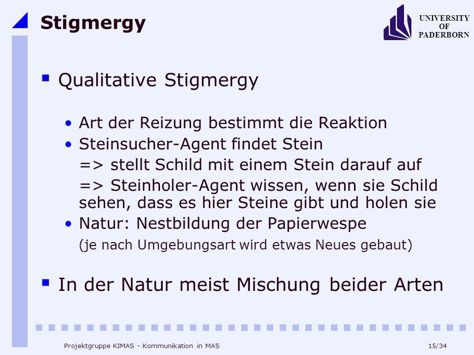 Qualitative Stigmergy