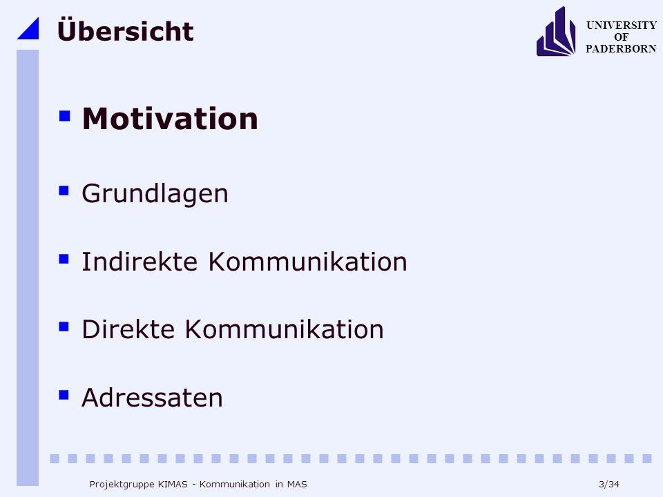 Motivation Übersicht Grundlagen Indirekte Kommunikation