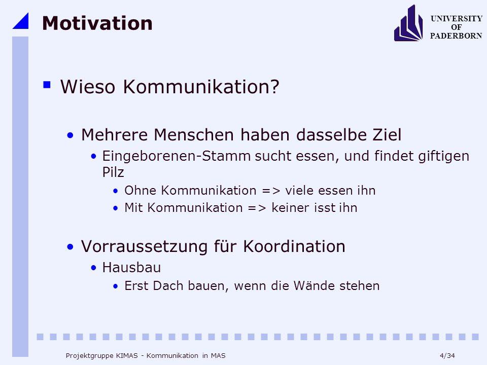 Motivation Wieso Kommunikation Mehrere Menschen haben dasselbe Ziel