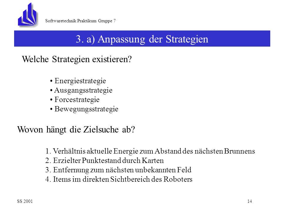 3. a) Anpassung der Strategien