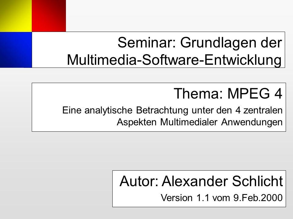 Seminar: Grundlagen der Multimedia-Software-Entwicklung