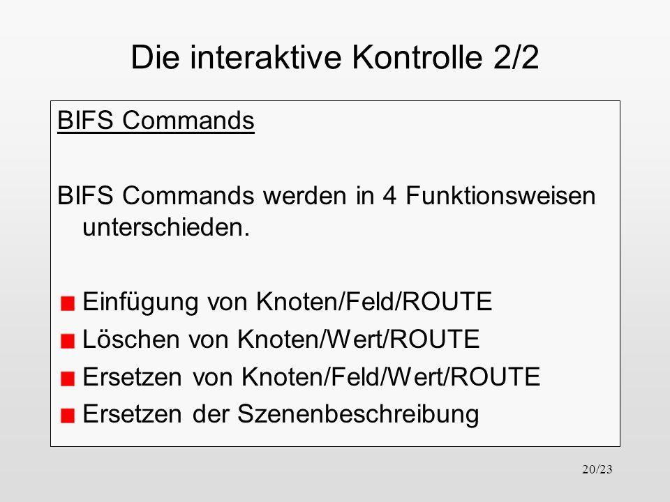 Die interaktive Kontrolle 2/2