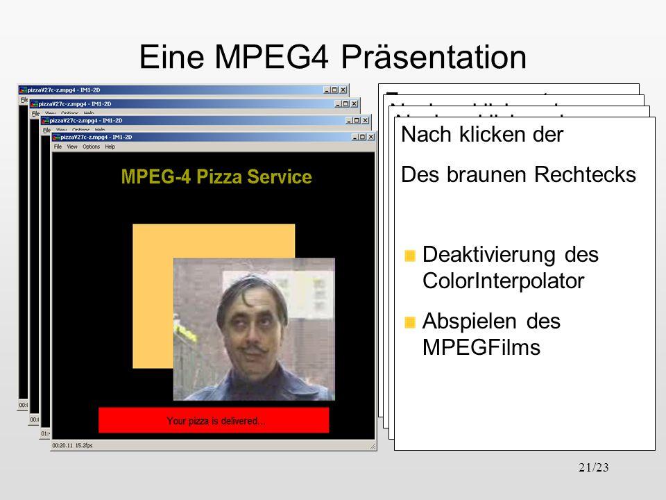 Eine MPEG4 Präsentation