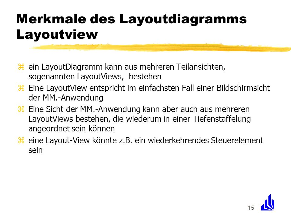 Merkmale des Layoutdiagramms Layoutview