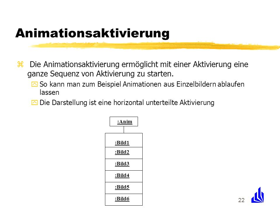 Animationsaktivierung