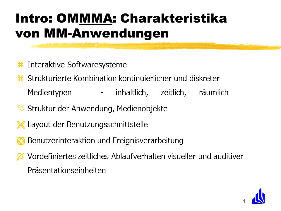 Intro: OMMMA: Charakteristika von MM-Anwendungen