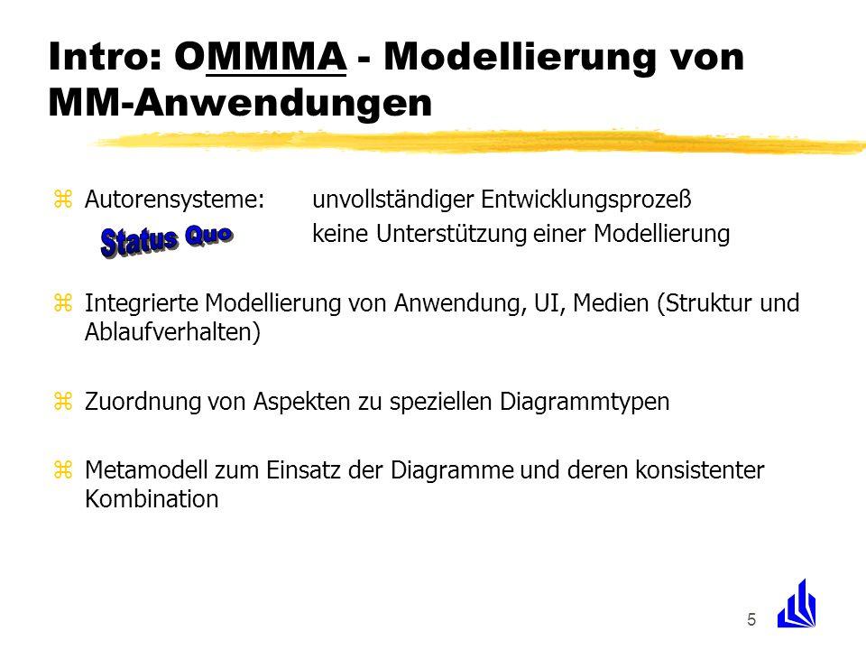 Intro: OMMMA - Modellierung von MM-Anwendungen