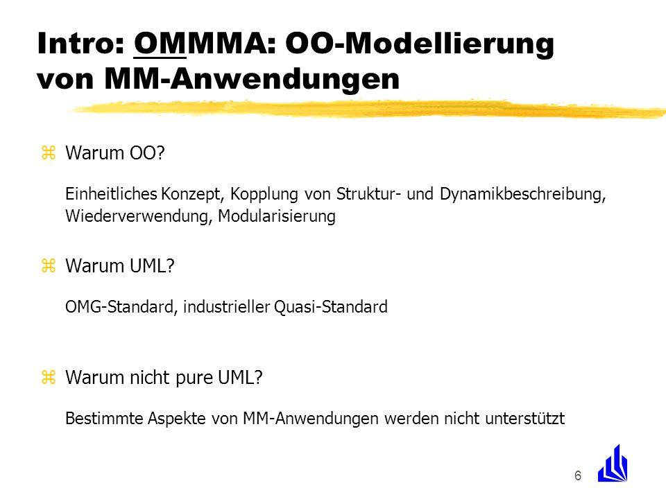 Intro: OMMMA: OO-Modellierung von MM-Anwendungen