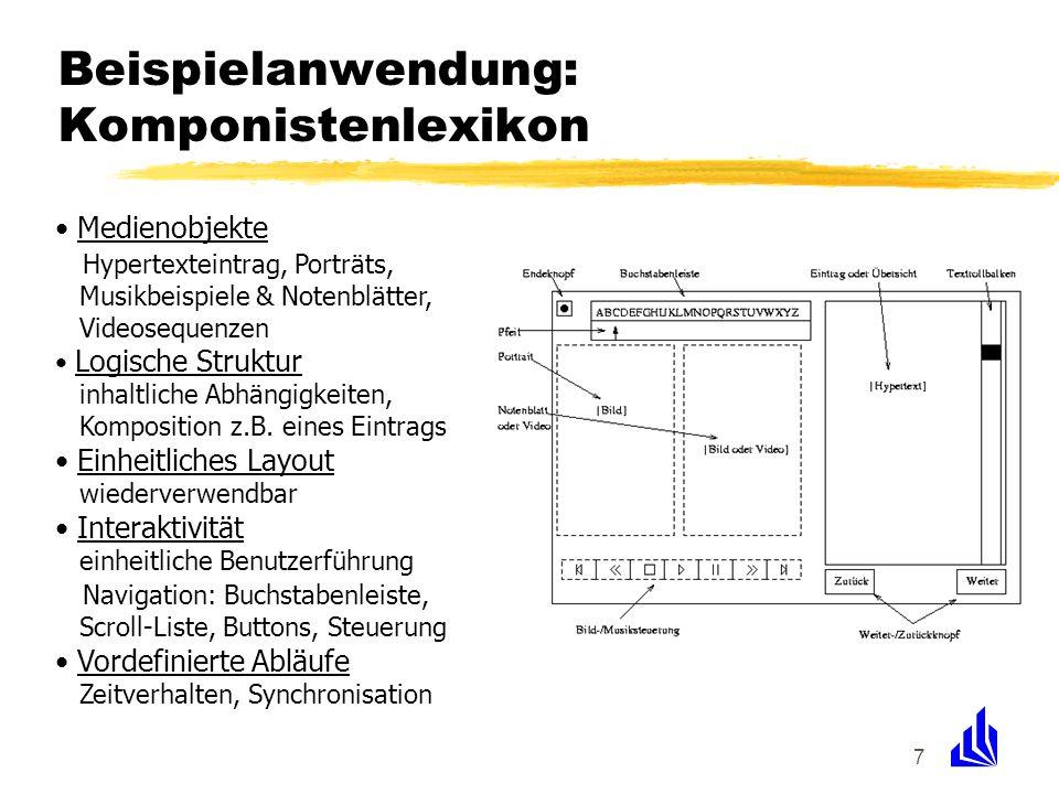 Beispielanwendung: Komponistenlexikon