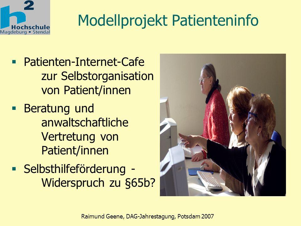Modellprojekt Patienteninfo