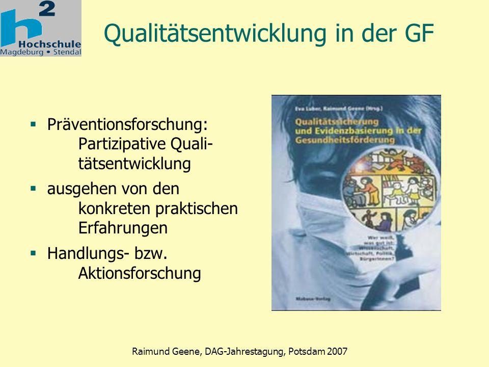 Qualitätsentwicklung in der GF