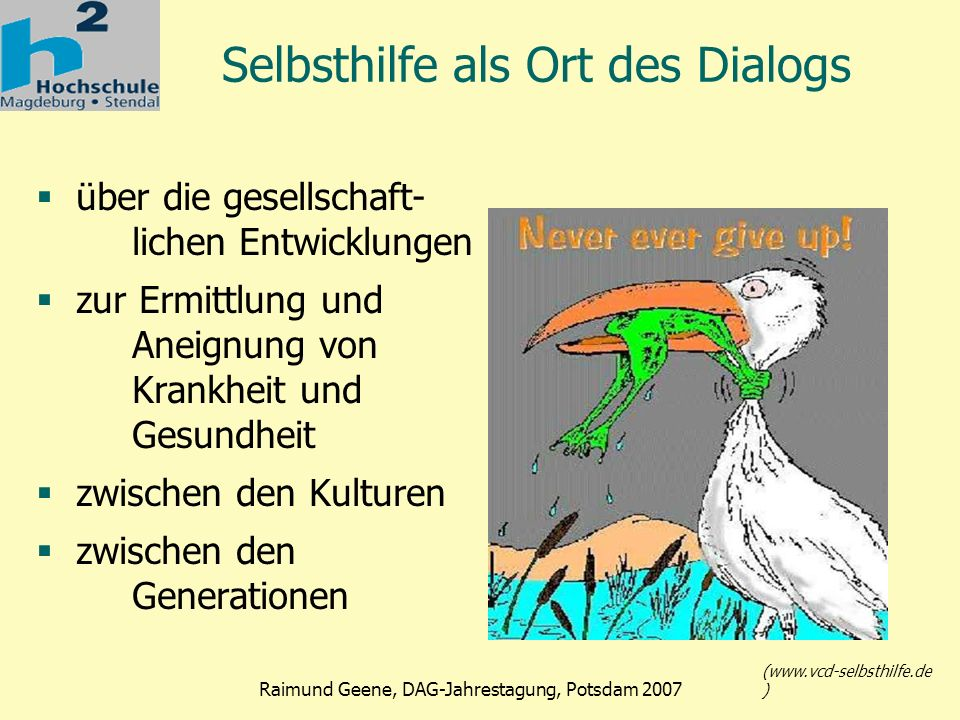 Selbsthilfe als Ort des Dialogs