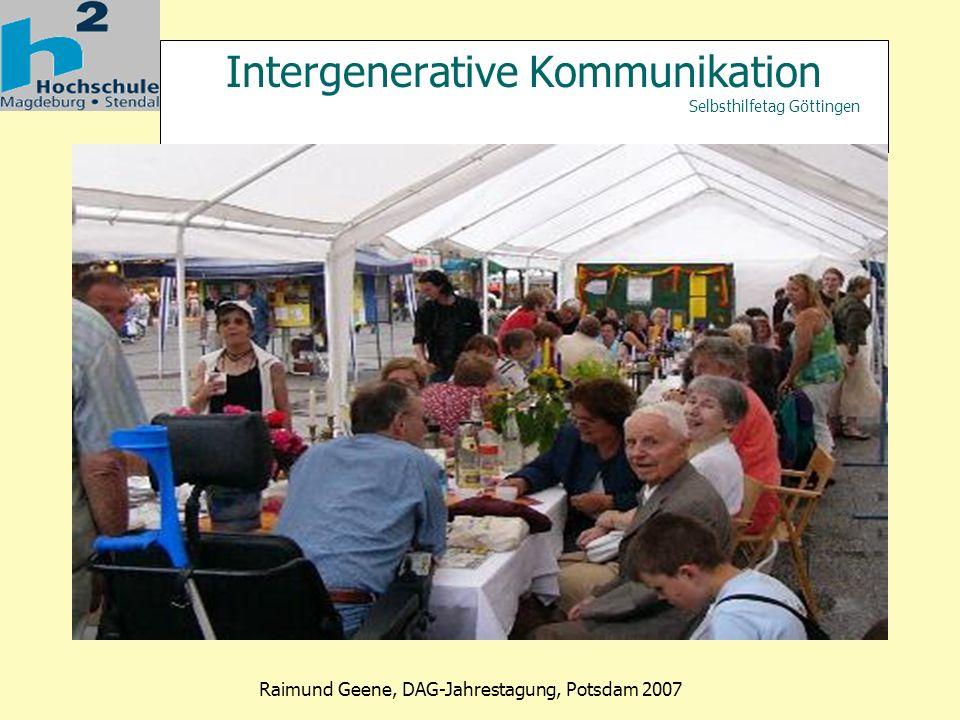 Intergenerative Kommunikation Selbsthilfetag Göttingen