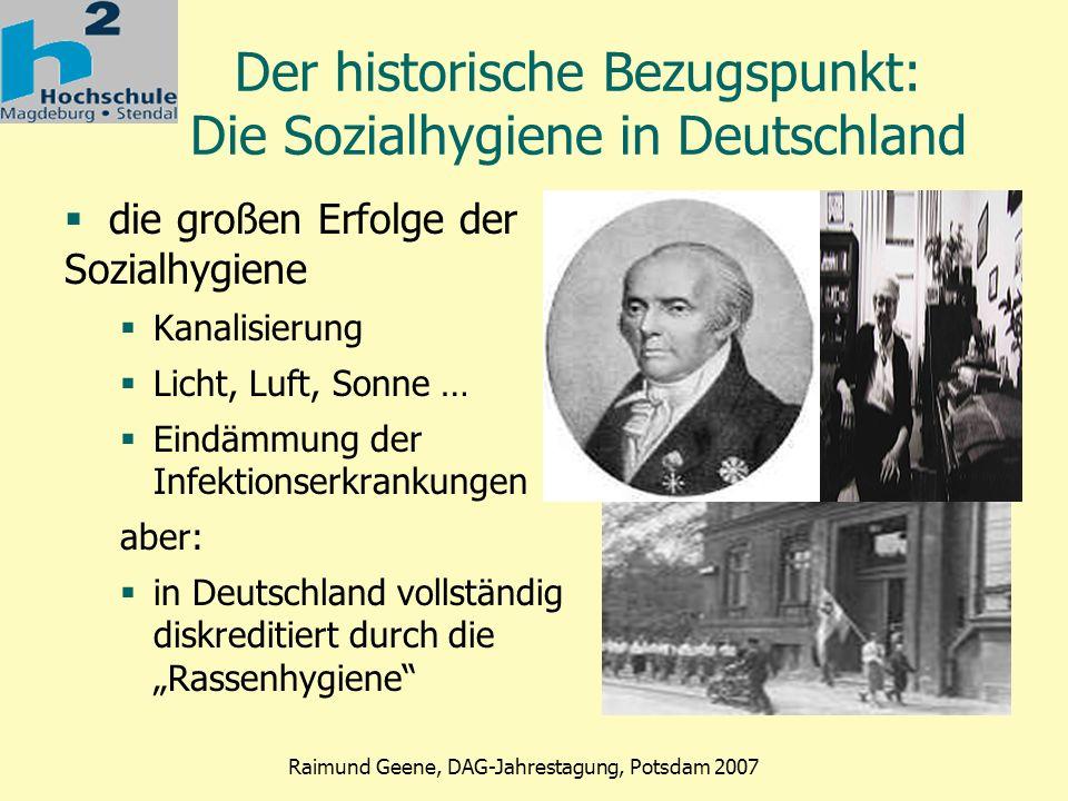 Der historische Bezugspunkt: Die Sozialhygiene in Deutschland