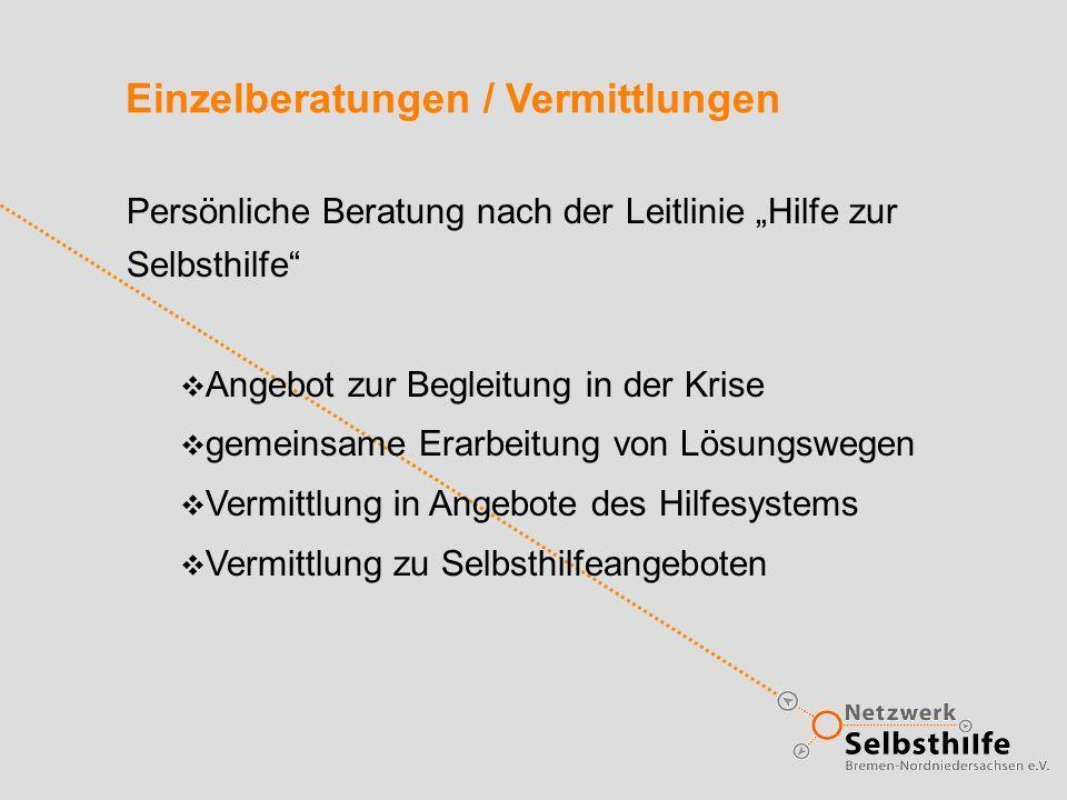 Einzelberatungen / Vermittlungen