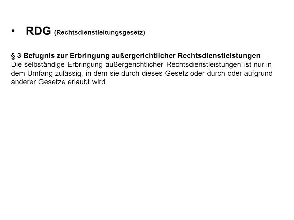 RDG (Rechtsdienstleitungsgesetz)
