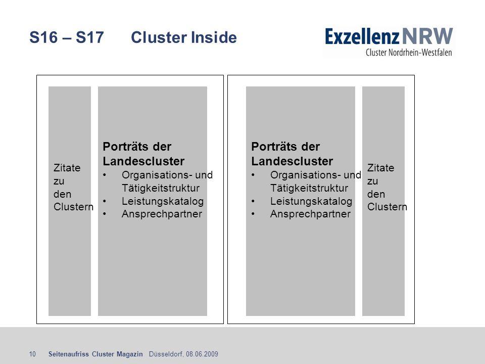 S16 – S17 Cluster Inside Porträts der Landescluster Porträts der