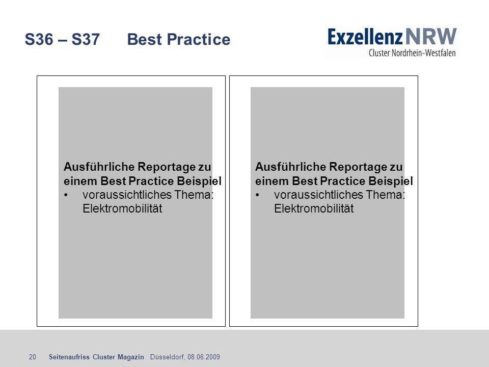 S36 – S37 Best Practice Ausführliche Reportage zu