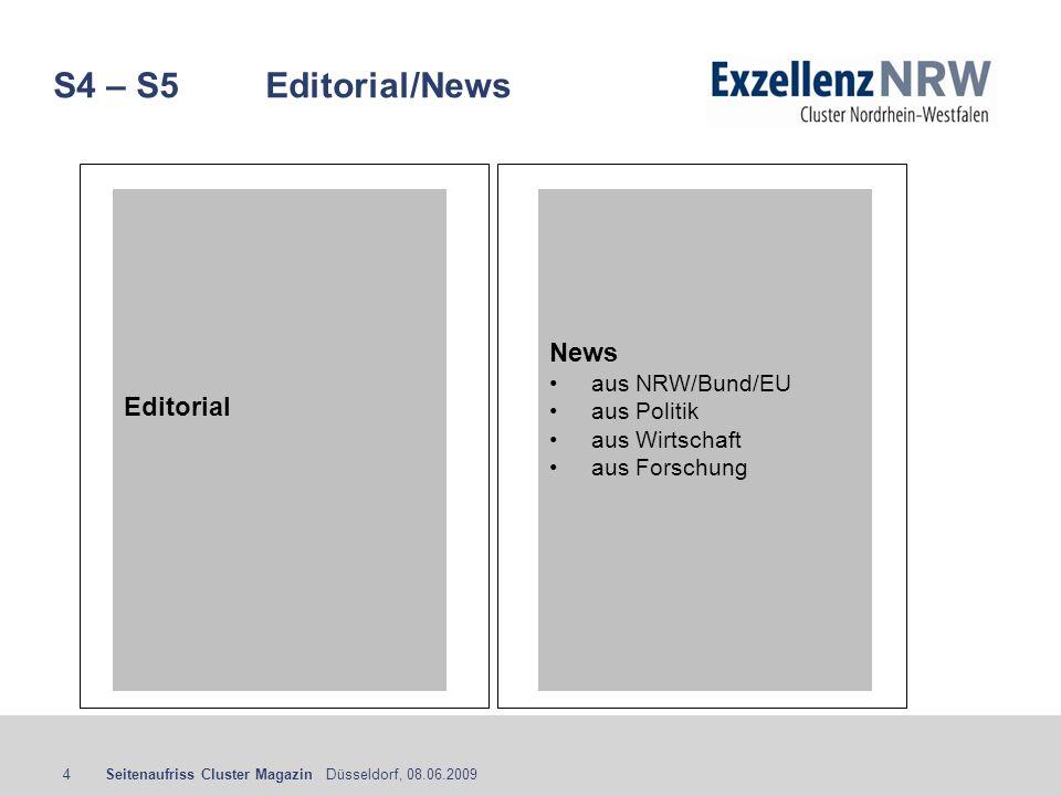 S4 – S5 Editorial/News News Editorial aus NRW/Bund/EU aus Politik