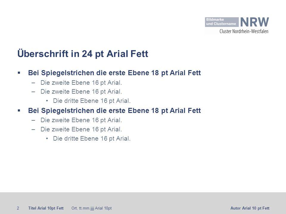 Überschrift in 24 pt Arial Fett