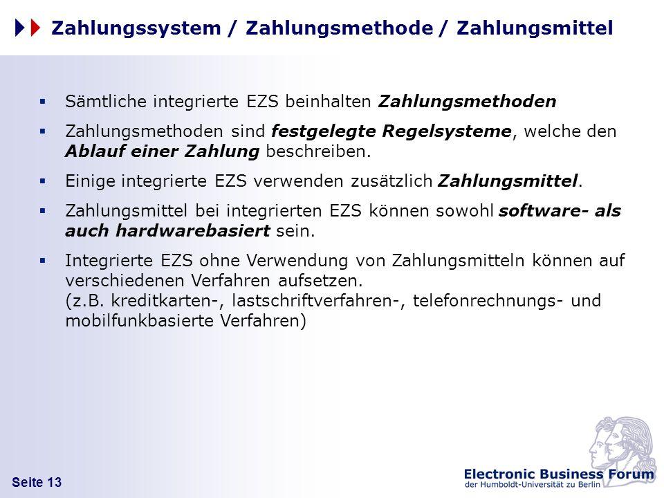 Zahlungssystem / Zahlungsmethode / Zahlungsmittel