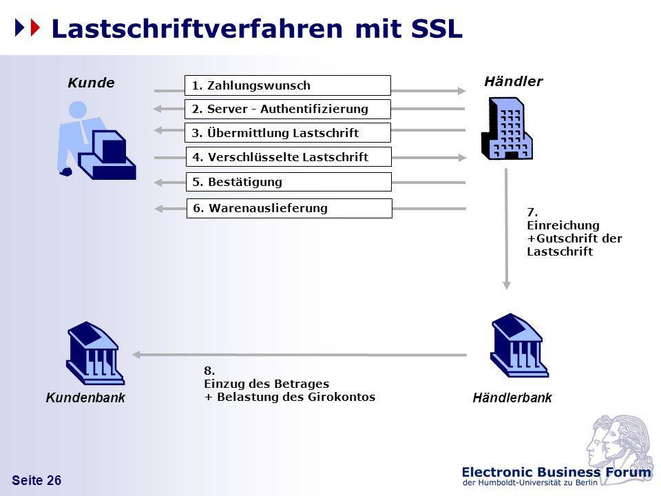 Lastschriftverfahren mit SSL