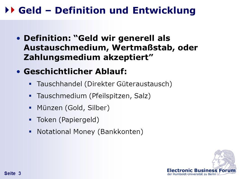 Geld – Definition und Entwicklung