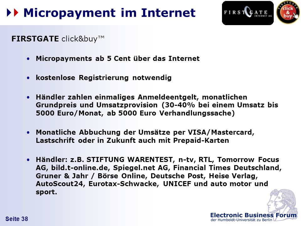 Micropayment im Internet