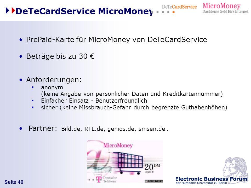 DeTeCardService MicroMoney