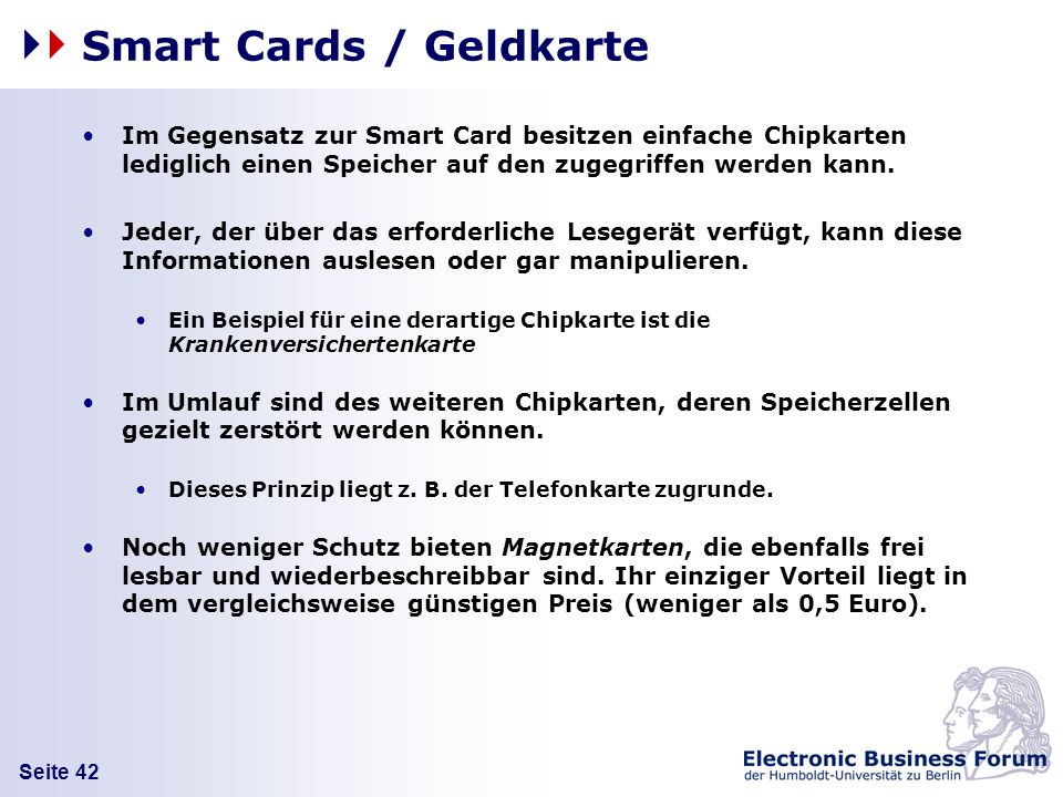 Smart Cards / Geldkarte