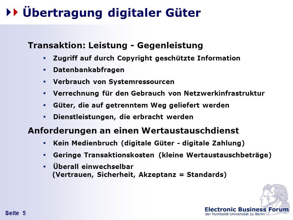 Übertragung digitaler Güter
