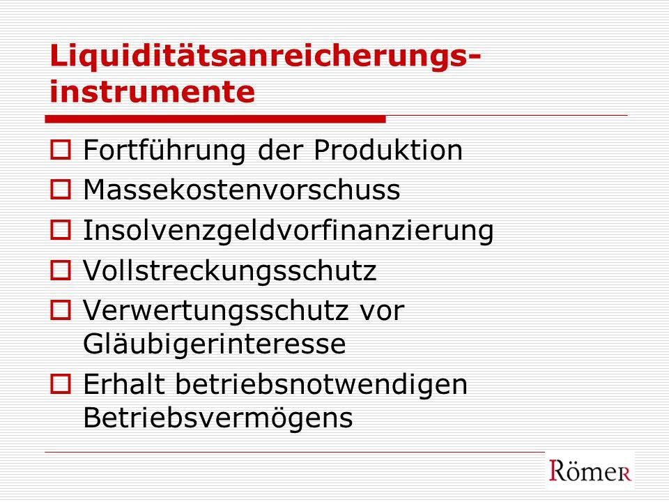 Liquiditätsanreicherungs-instrumente