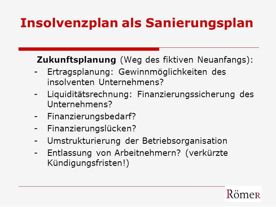 Insolvenzplan als Sanierungsplan