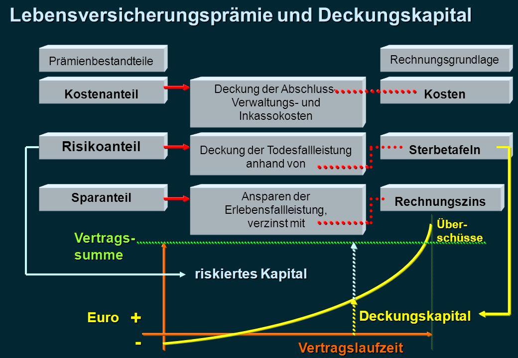 Lebensversicherungsprämie und Deckungskapital